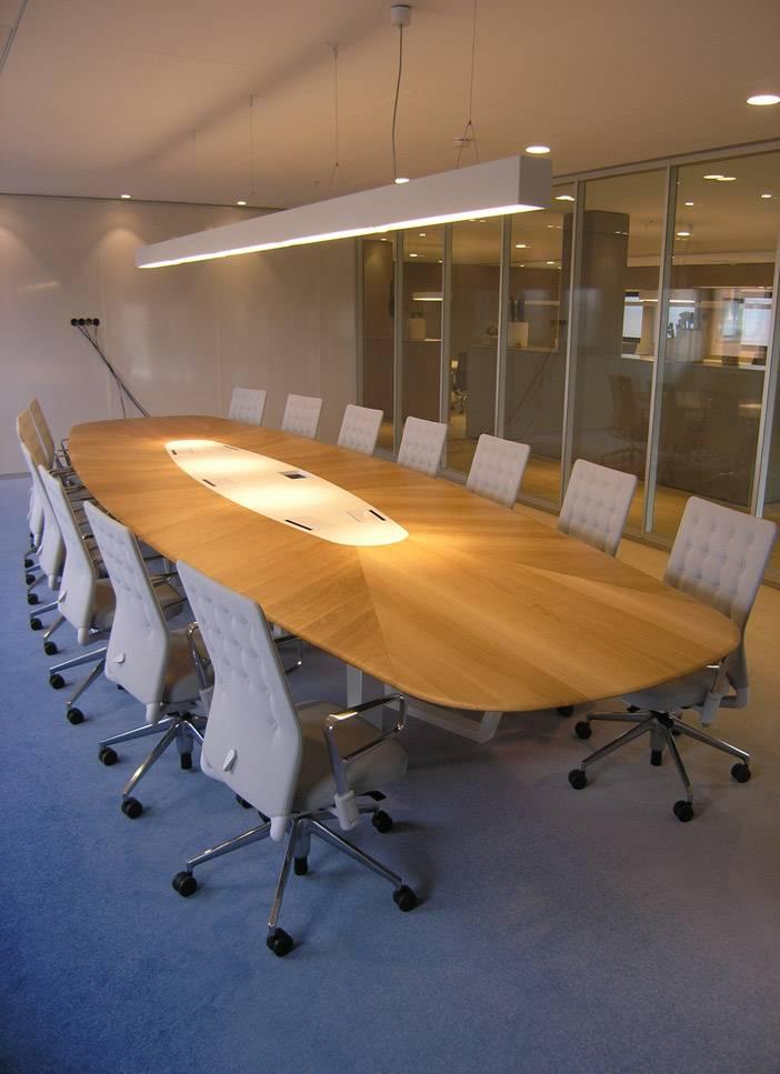Houten vergadertafel op maat Firma 400